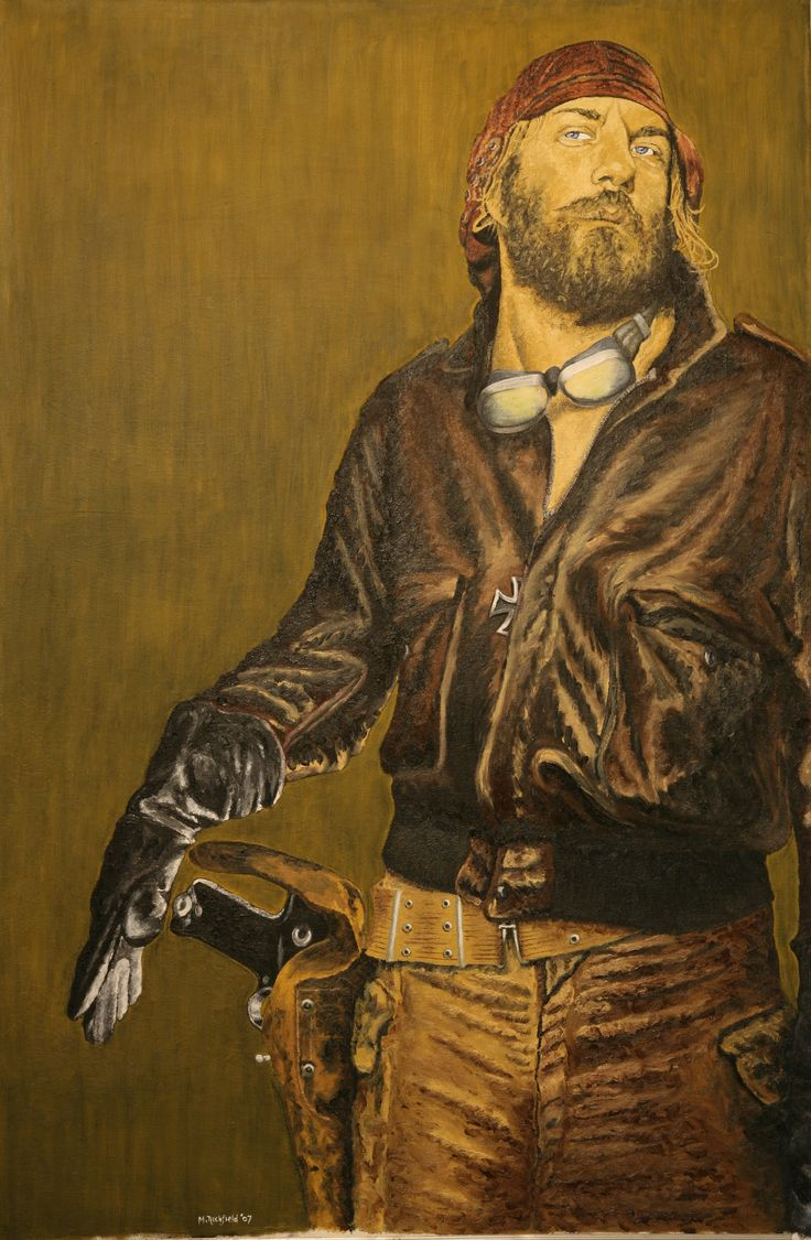 """Canadian actor Donald Sutherland in """"Kelly's Heroes"""" as the crazy, hippy tank commander (oils)"""