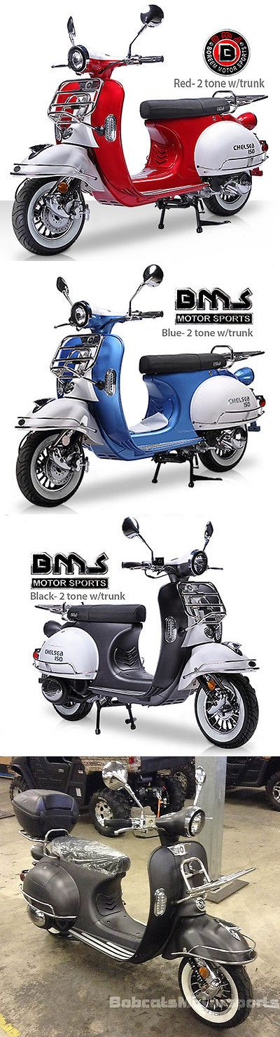 motorcycles And scooters: New Vintage Bms Chelsea 150Cc Moped Gas Scooter Bike Retro Motorcycle Free Ship! BUY IT NOW ONLY: $1699.0