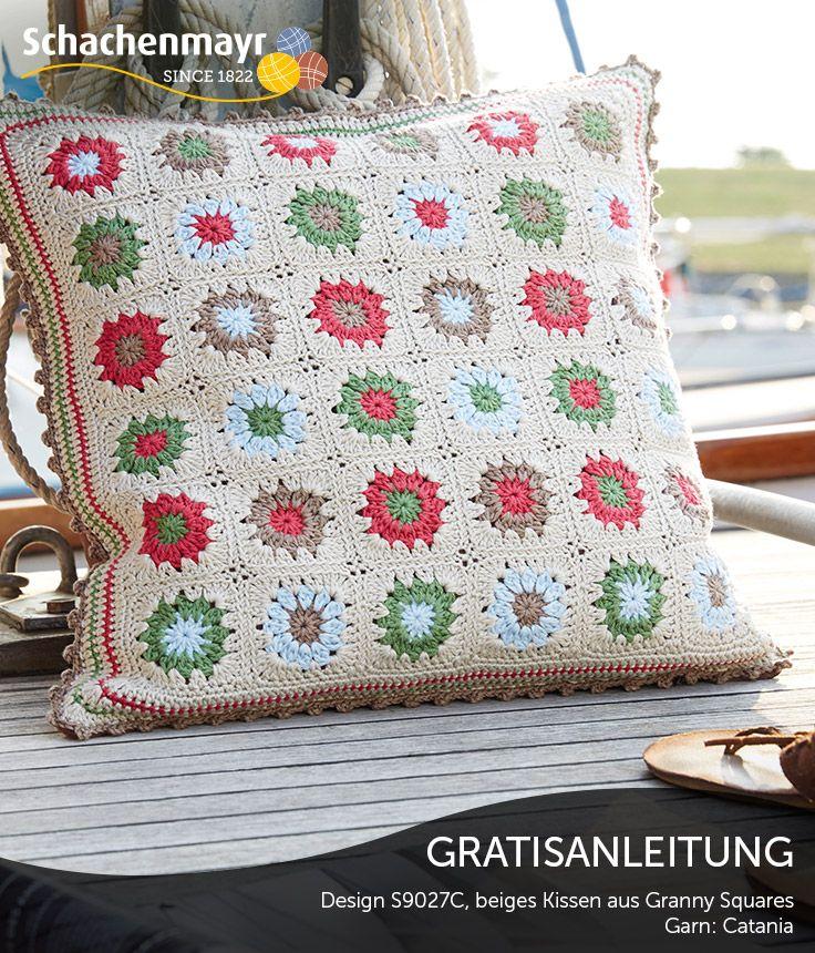 17 Best Images About Crochet On Pinterest | Free Pattern, Deutsch ... 17 Kissen Designs Gute Laune Sommer