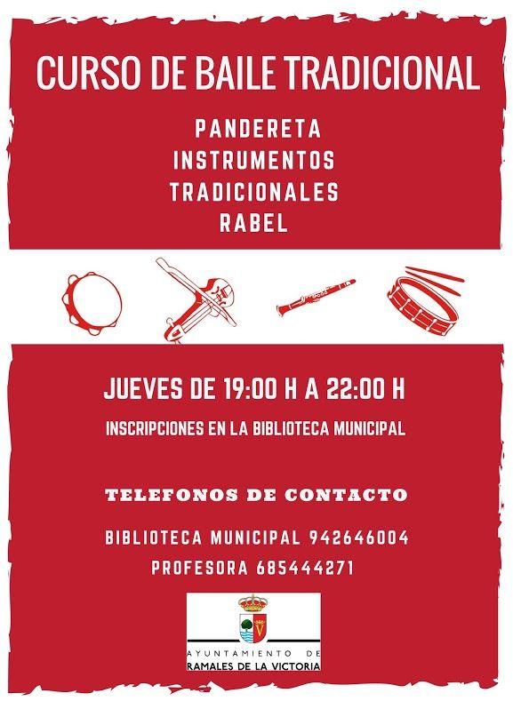 Curso de Baile Tradicional, Jueves de 19:00 a 22:00 h. Inscripciones disponibles en Biblioteca Municipal Ramales Apúntate ya!!!!!!