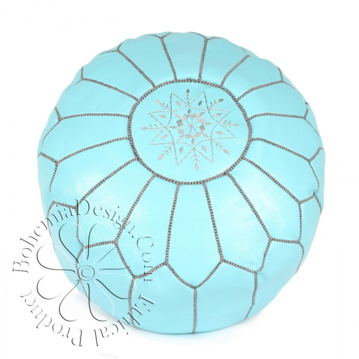 moroccan leather pouffe $108.40........why are these so expensive.......: Living Rooms, Blue, Interiors, Pouff 108 40 Why, Moroccan Leather, Families Rooms, Girls Rooms, Bohemia, Leather Pouff
