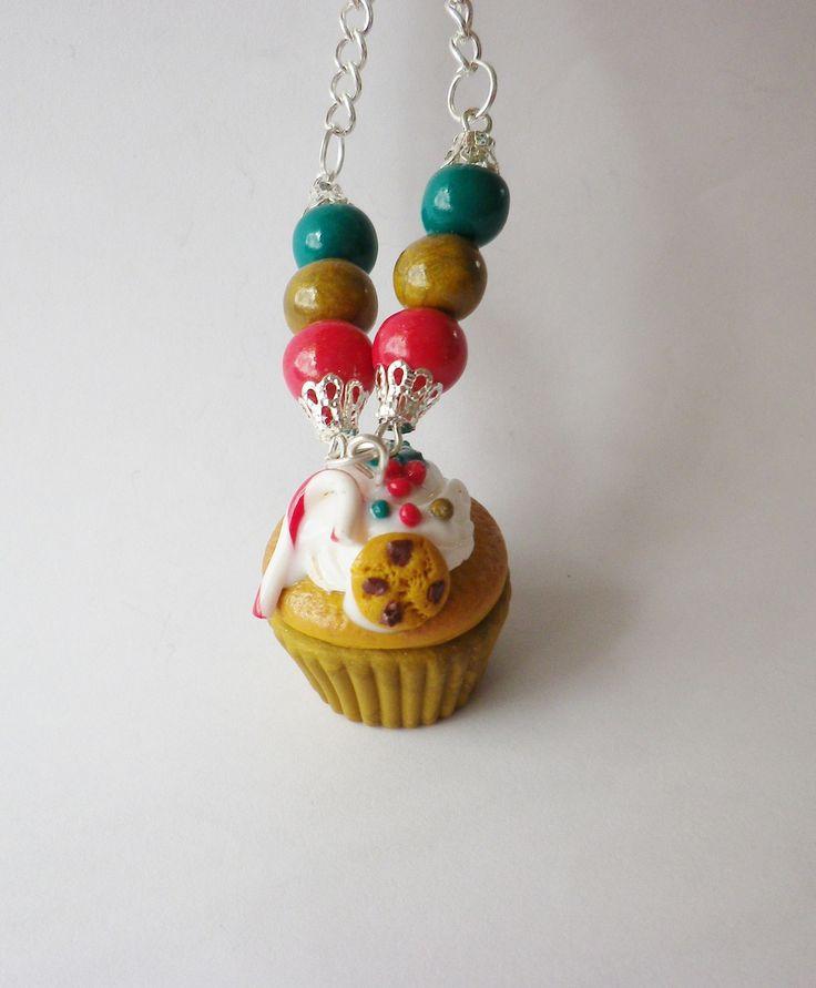Collier cupcake de noel unique et original ultra gourmand et festif theme noel cupcake et no l - Theme noel original ...
