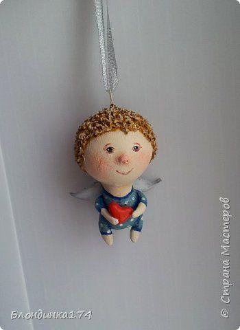 Куклы Поделка изделие Новый год Рождество Лепка Папье-маше Рождественские ангелочки Бумага Клей Краска Фольга фото 12