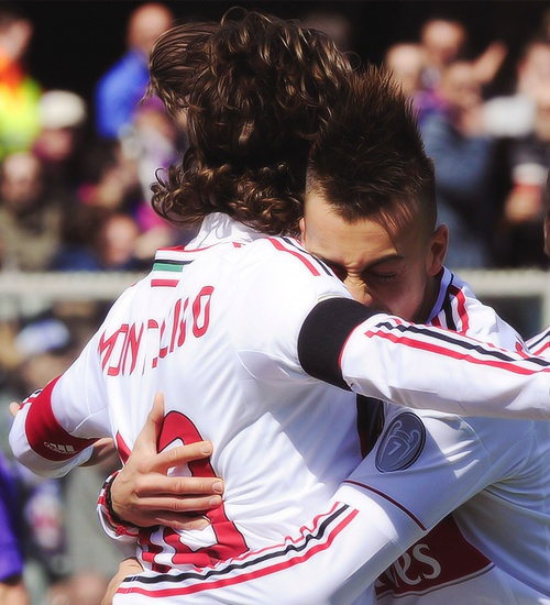 Stephan El Shaarawy and Riccardo Montolivo