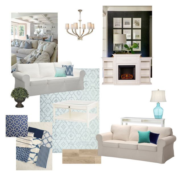 Tápai nappali by reka-palyi on Polyvore featuring interior, interiors, interior design, home, home decor, interior decorating, Pacific Coast, Visual Comfort, Exquisite Rugs and Upton Home