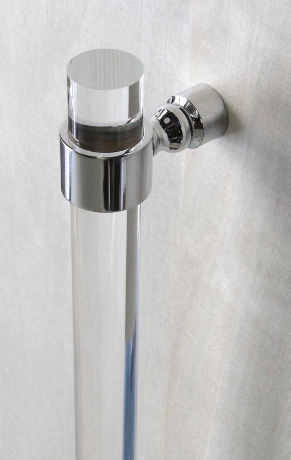 Custom Lucite Door Handle Polished Brass Satin Brass Nickel Etsy In 2020 Shower Door Handles Door Handle Design Modern Shower Doors