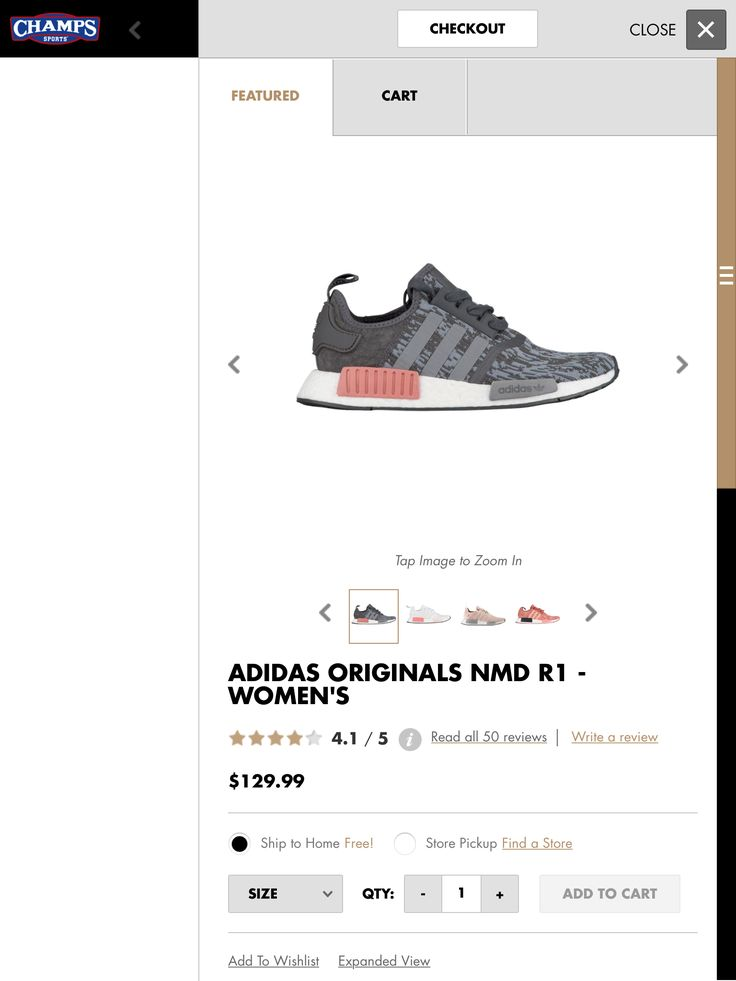 Adidas NMD shoe 8.5 at champs sports.com