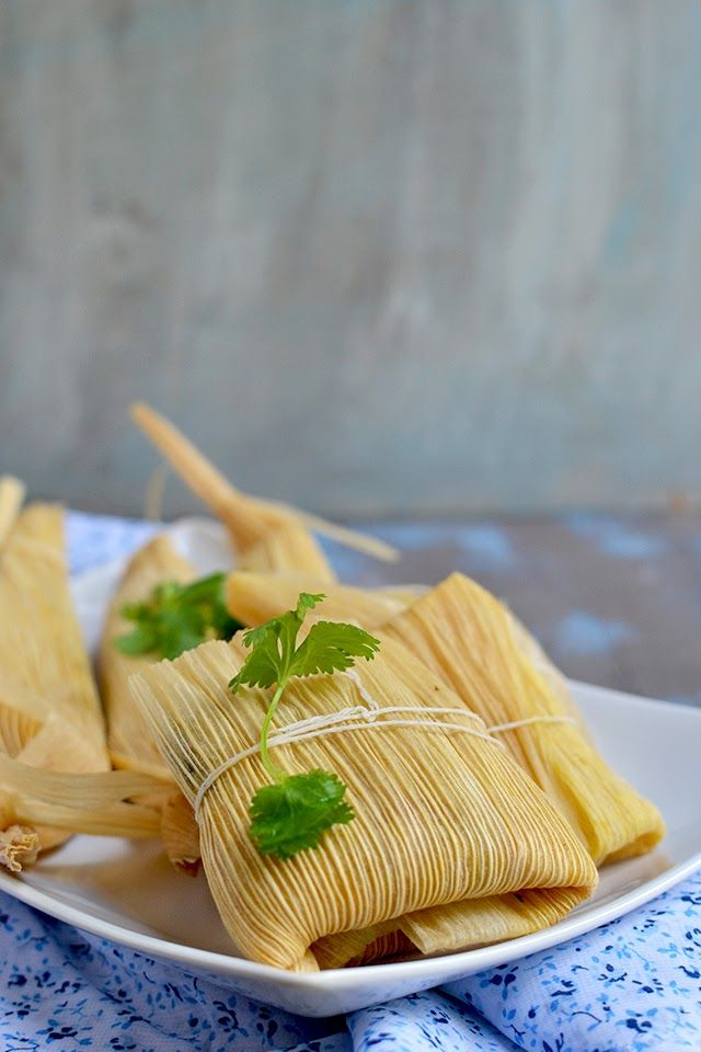 Vegetarian Tamales with Spinach, Corn and Cheese Filling by Cook's Hideout