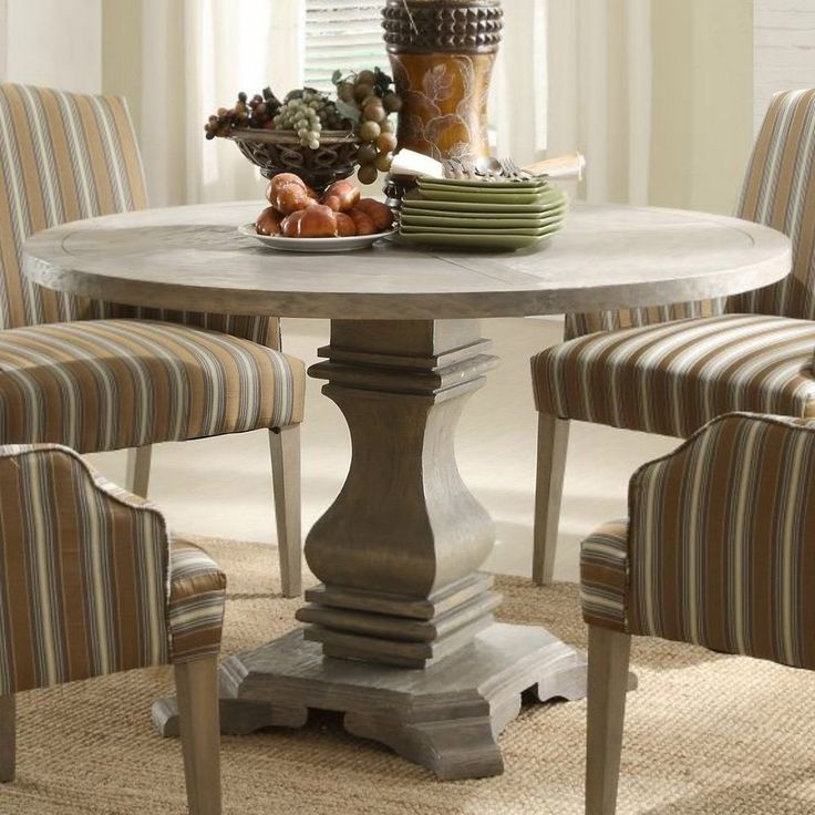 pedestal dining room table is also a kind of round pedestal dining table paint round pedestal - Pedestal Dining Room Table With Leaf