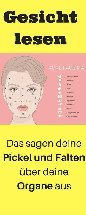 Face mapping, Gesicht lesen, Pickel und Falten Org…