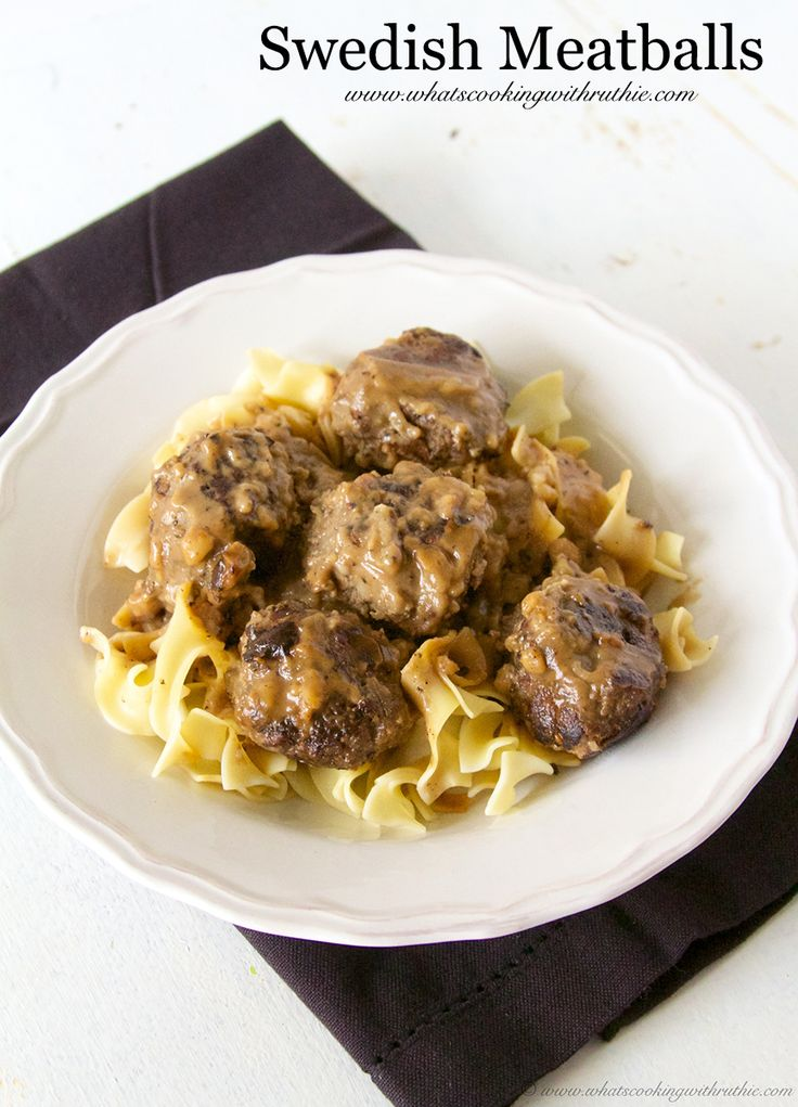 Swedish Meatballs on www.cookingwithruthie.com is comfort food for those cold winter months!