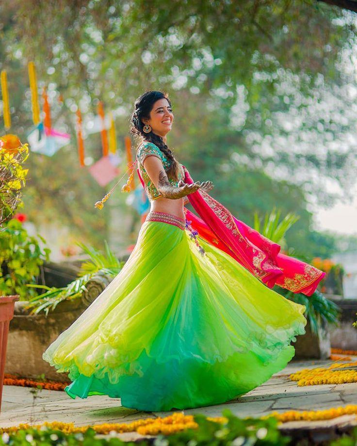 vestido-de-noiva-indiano-verde-e-rosa