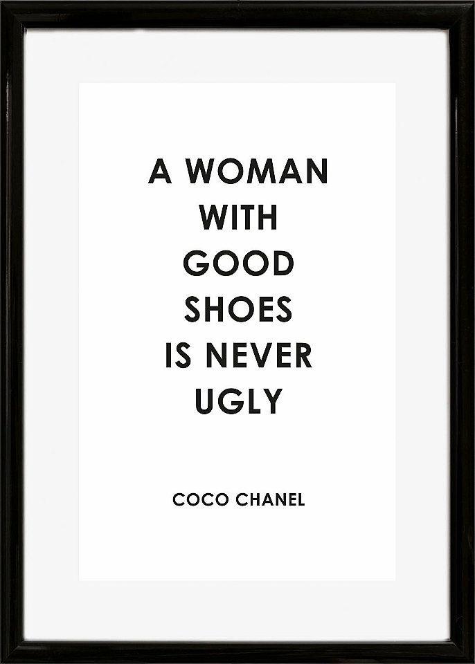 Word! Mit einem coolen Spruch und hübscher Aufmachung punktet das Bild »Spruch: A woman with …« der Marke Home affaire. Es kann über einem Sofa oder einem anderen Möbelstück in jedem Raum seinen Platz finden und peppt das Ambiente auf.