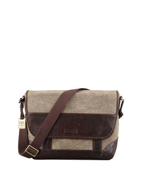 Харви Кожа и Холст сумка, темно-коричневый