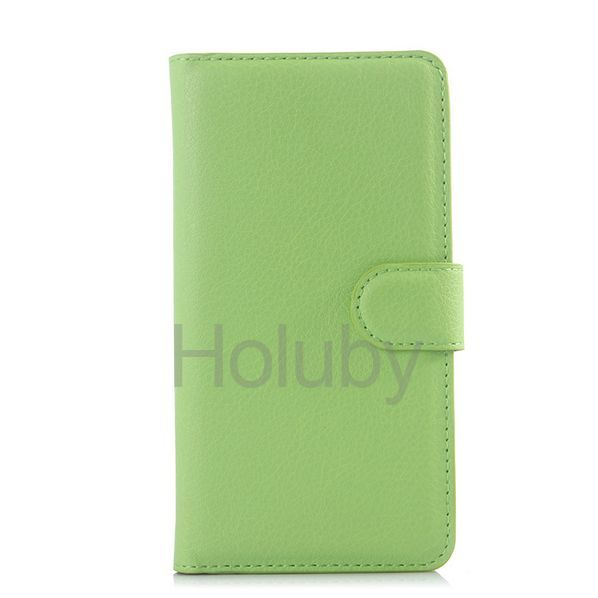 Lichee Pattern Wallet Style Magnetic Flip Stand PC+ PU Leather Case for Xiaomi Mi 4i - Green