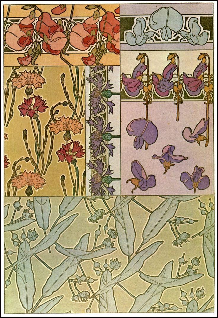 декоративное документы - цветы 1901 _ documents decoratifs - flowers 1901