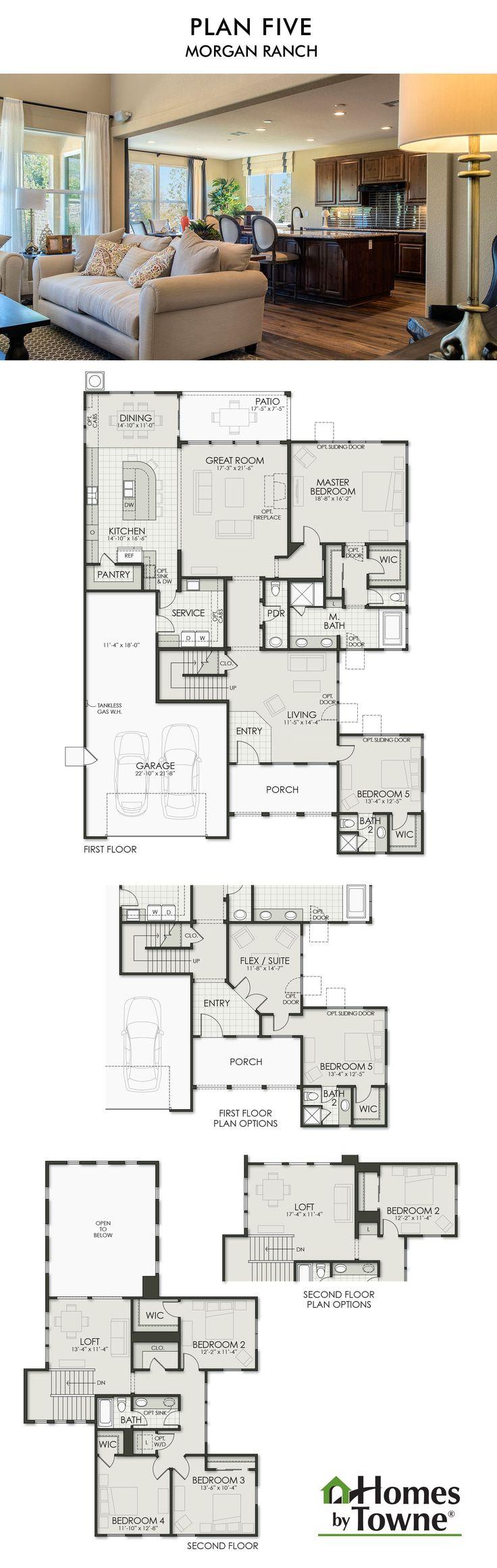 Plan Five Morgan Ranch Roseville California Homes