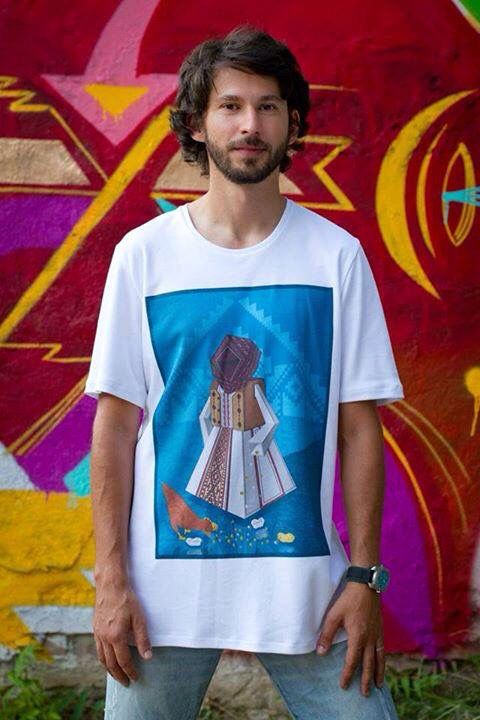 #urbandesign. Another cool tshirt based on Romanian folklore. Representing a futuristic version of a peasant. #Doina