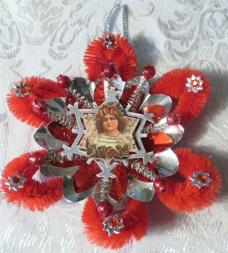 Vintage Christmas Light Decorations: VICTORIAN STYLE CHRISTMAS ORNAMENT