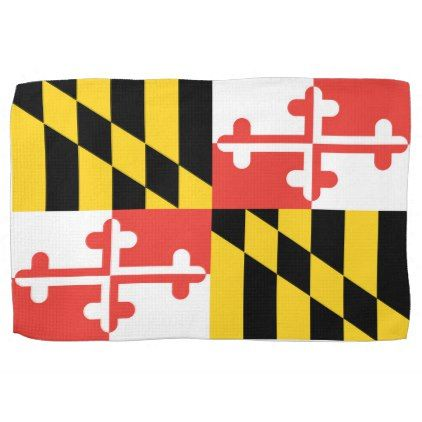 Maryland Flag Dish Towel - kitchen gifts diy ideas decor special unique individual customized