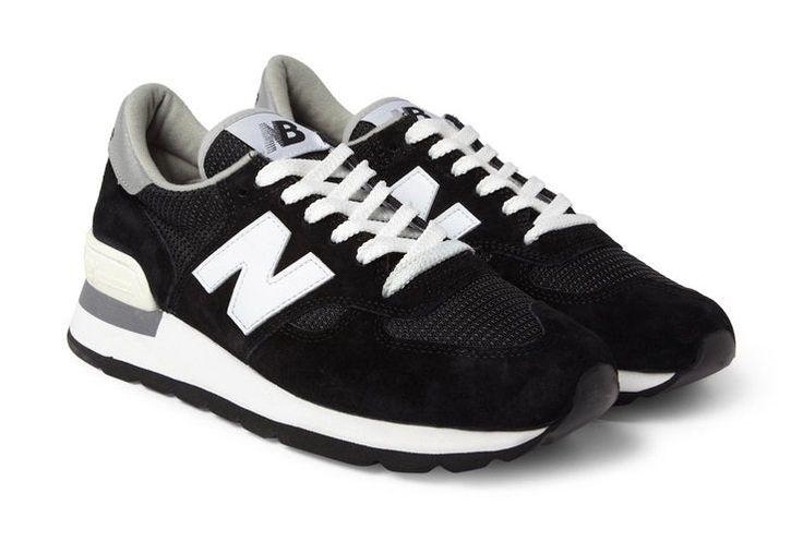 New balance 990 мужские черные кроссовки замша