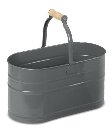 Oval Cleaning Pail with Wooden Handle | Keeping the house in order can be a dirty job. Here, seven good-looking tools to help you clean up.