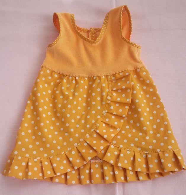 Puppenkleidung - selbst genähte Puppenkleider - Sommerkleid für Puppen - Geschenkidee für Kinder