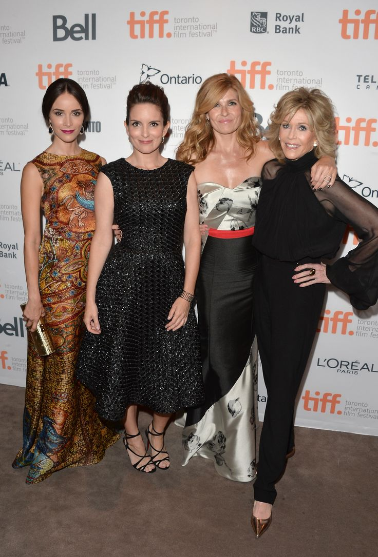 Abigail Spencer, Tina Fey, Connie Britton and Jane Fonda at the premiere of This Is Where I Leave You during #TIFF14. (Photo: Getty Images)