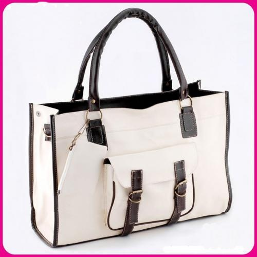 Solid White Zipper Hasp Canvas Fashion Bags $5.60
