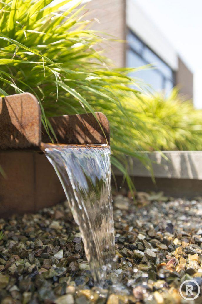 Tuininspiratie - De Rooy Hoveniers - natuurlijke tuin - cortenstaal waterloop