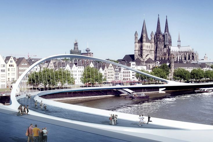 hemmerling's rheinring arch provides city center for cologne - designboom | architecture