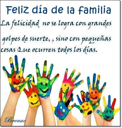 feliz dia de la familia