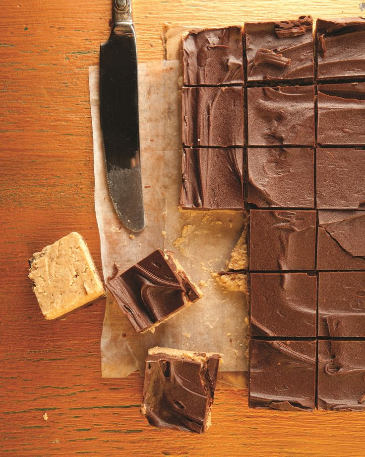 Chocolate Peanut Butter Squares, like Reese's Peanut Butter Cups, but homemade!  And so easy.  From themom100.com