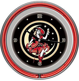 Miller High Life® Girl in the Moon Design Vintage Neon Clock