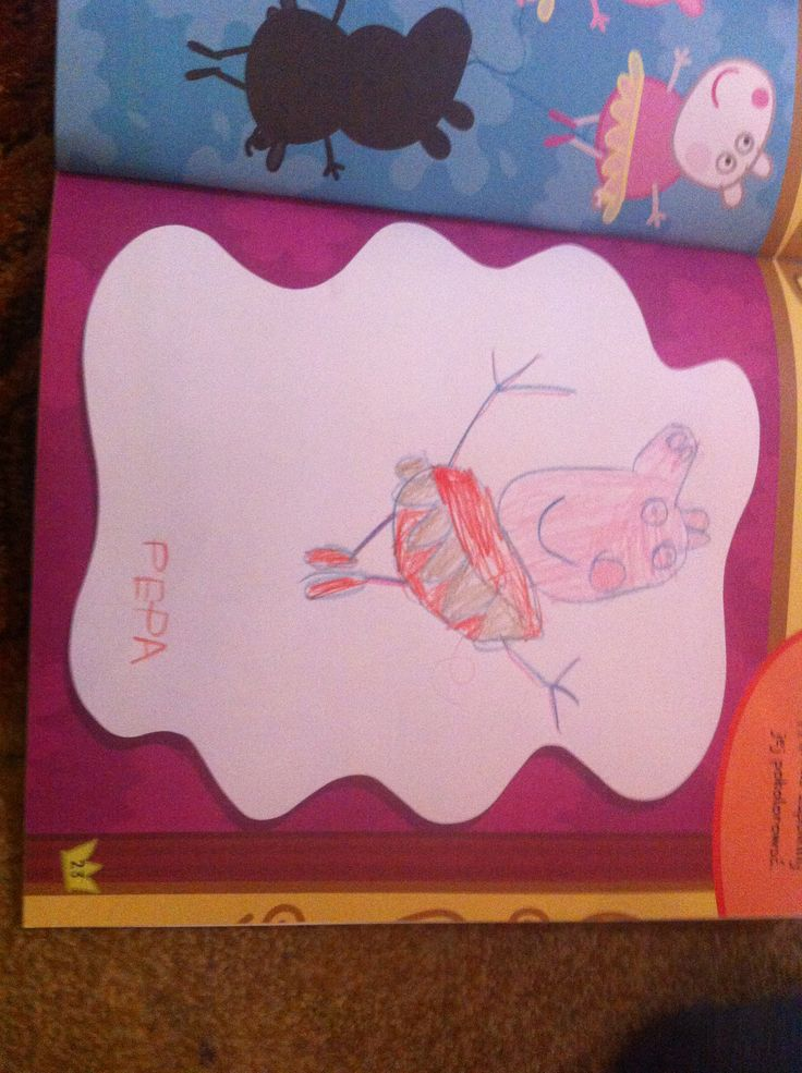 Peppa pig drawing by my 5 year old kid