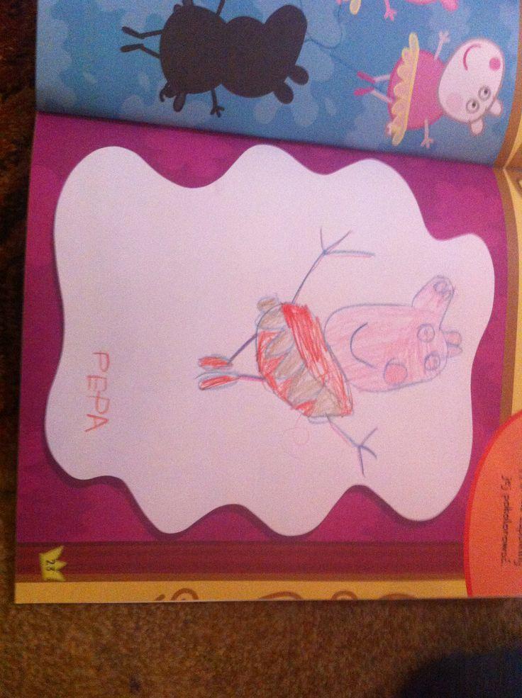 Peppa pig drawing by my 5 year old kid