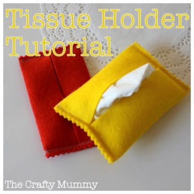 Felt Tissue Holder Tutorial  #felt #sewing
