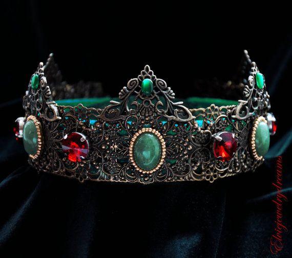 Medieval Men's crown Mens Green Imperial by Elviejewelrydreams