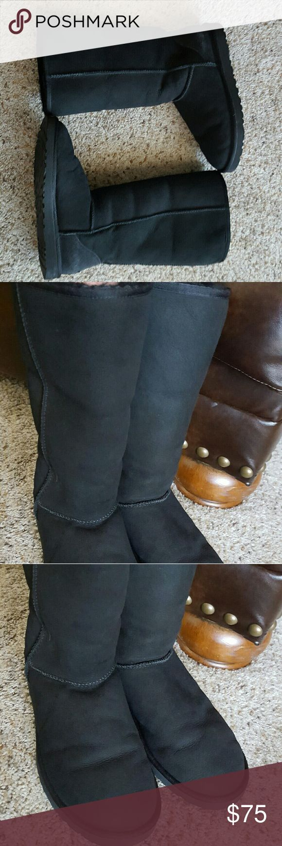 Ugg Classic Tall Boots Okay condition  Flaws are included in pictures UGG Shoes