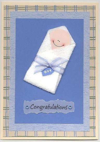 by SmartScrapper-New Baby Boy Card - Two Peas in a Bucket