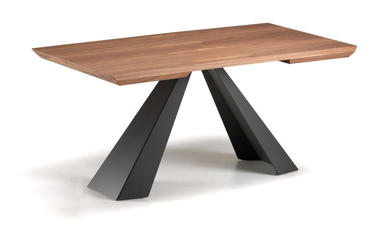 Tavolo Eliot Wood Drive, Cattelan, base in graphite e piano in legno  Lo trovi su www.mobilificiomarchese.com/shop/