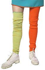 Farblich passende Stulpen ideal als: Pippi Langstrumpf Strümpfe
