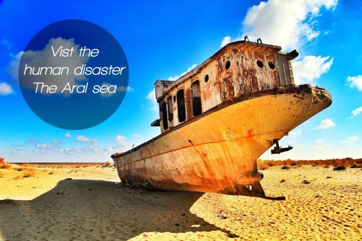 The aral Sea, one of the biggest human disasters in the world. #disaster #uzbekistan #travel #aral #sea
