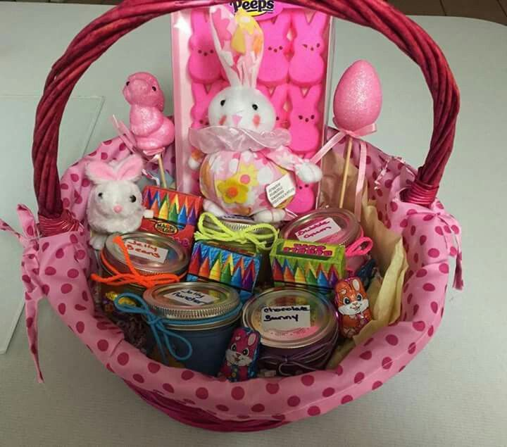 7 best natural inoscents gift baskets images on pinterest au candle easter basket made with candy scented candles negle Images