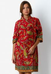 Danar Hadi  Mini Dress Batik Ceplok Pasley