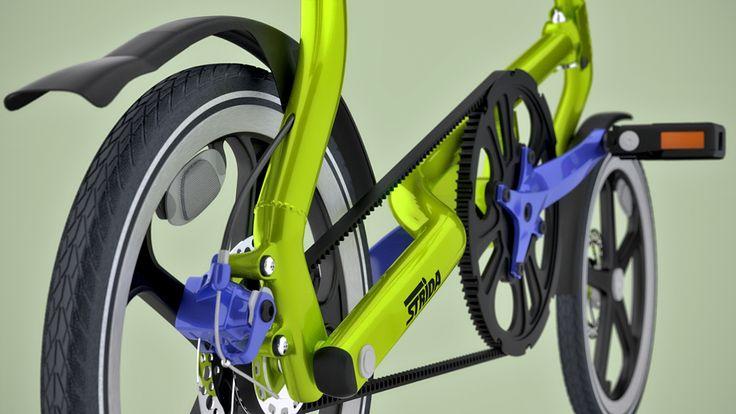 Strida Bike (renders and short animation). on Behance