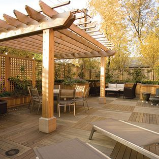 Pergola Thick Pillars And Cross Beams Pergola Patio