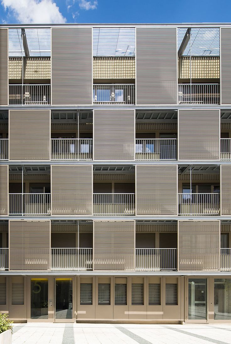 Rehabilitation of the shell of a social housing building by ATELIER DU PONT