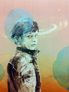 Alf Christian Hvaring - Oppdager   Galleri Briskeby   litografi