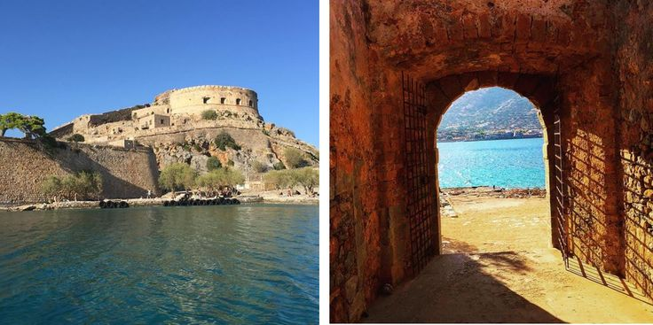 A circular fortress rises impressively from a rocky hillside, overlooking vast open seas. Start your day with a visit to Spinalonga island, just across Blue Palace Resort and Spa!  Photo by Instagrammer Msmarmitelover